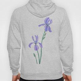 elegant purple iris Hoody