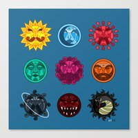astrology Canvas Prints featuring Astrology by Karthik
