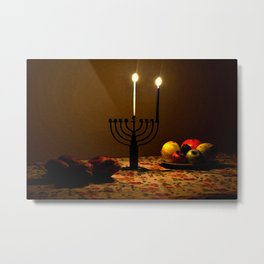 First Candle Metal Print