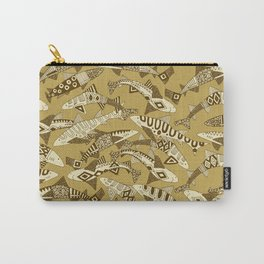 shark party gold Carry-All Pouch