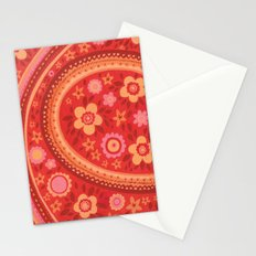Bright Red Flowers Stationery Cards