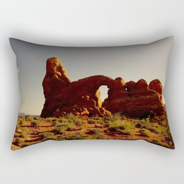 Turret Arch at sunset. Rectangular Pillow