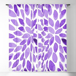 Watercolor brush strokes - ultra violet Blackout Curtain