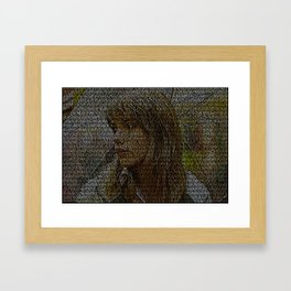 Text Portrait of Scarlet Johansson with full script of Lost in Translation Framed Art Print