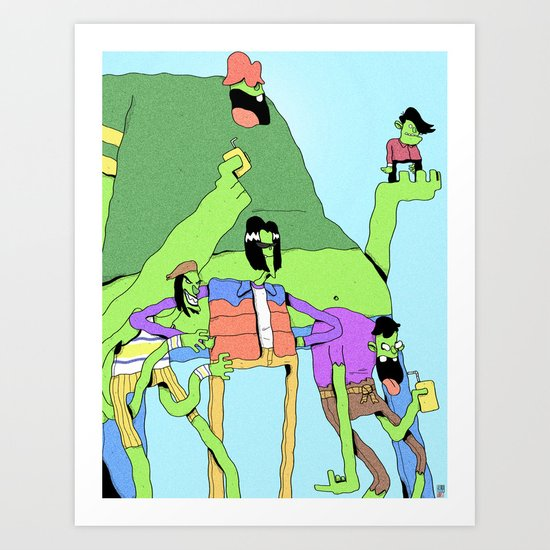 Gangreen Gang Art Print