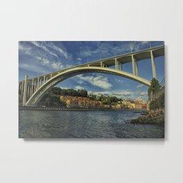 Arrábida bridge. Porto, Portugal Metal Print
