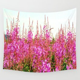Field of lupins and wildflowers on Brier Island, Nova Scotia Wall Tapestry