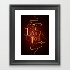 Fire Invention Month Framed Art Print