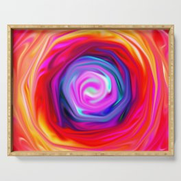 Rose abstract Serving Tray