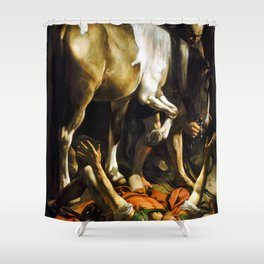 Caravaggio Conversion on the Way to Damascus Shower Curtain