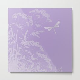 Small idyll lilac Metal Print