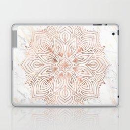 Mandala Rose Gold Quartz on Marble Laptop & iPad Skin