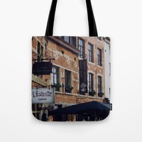 brussels Tote Bags featuring Brussels by monography
