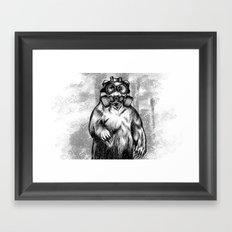 toxic bear  Framed Art Print