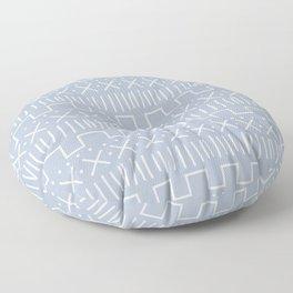 Powder Mud Cloth Floor Pillow