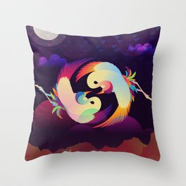 Cranes - The Lovers Throw Pillow