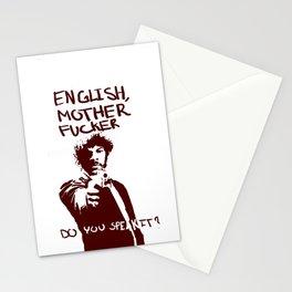 Pulp Fiction Samuel L Jackson English Motherfucker Do You Speak It? Stationery Cards