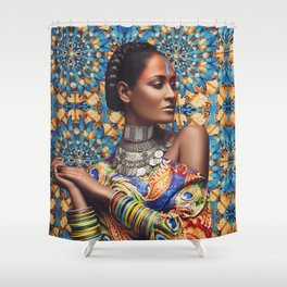 INDIAN BEAUTY #1 Shower Curtain