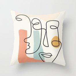 Abstract Faces 31 Throw Pillow