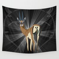 cheetah Wall Tapestries featuring Millennium cheetah  by milanova