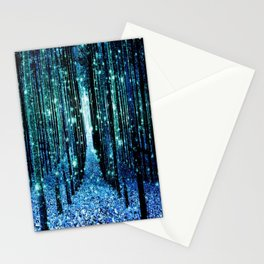 Magical Forest Teal Turquoise Stationery Cards