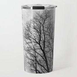 Creepy black and white trees Travel Mug