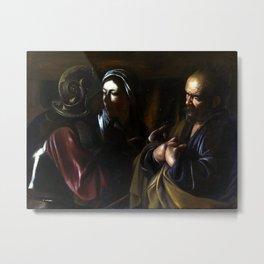 Caravaggio The Denial of Saint Peter Metal Print