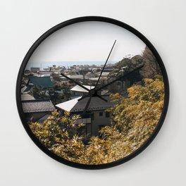Japan's Coast Wall Clock