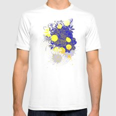 Gold and Blue Harmony Mens Fitted Tee White MEDIUM