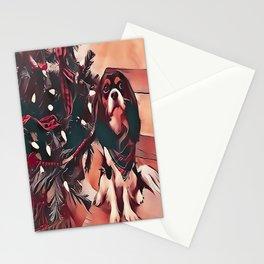Cavalier King Charles Spaniel Christmas Stationery Cards