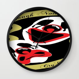 laugh now Wall Clock