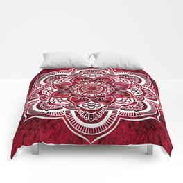 Mandala Red Colorburst Comforters