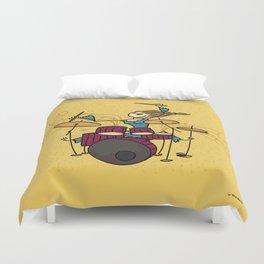 Crazy drummer Duvet Cover