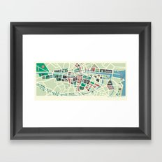 Baile Átha Cliath (Dublin) Framed Art Print