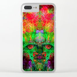 The Flower King Clear iPhone Case