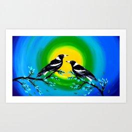 Sun and Birds Art Print