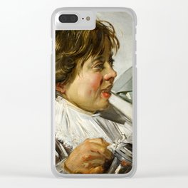 """Frans Hals """"Boy with a glass and a tin can"""" Clear iPhone Case"""