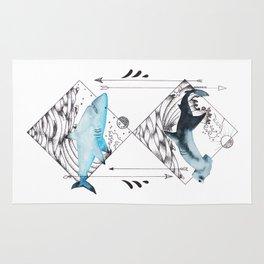 sharks on point Rug