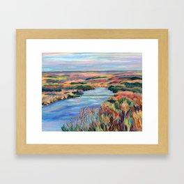 Autumn on the Delaware River Framed Art Print