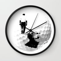 arnold Wall Clocks featuring Arnold Palmer by Ryan Anderson