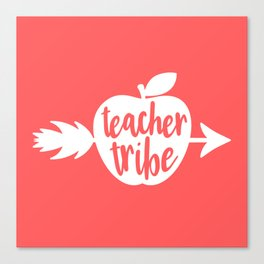 Teacher Gifts - Coral and White Canvas Print