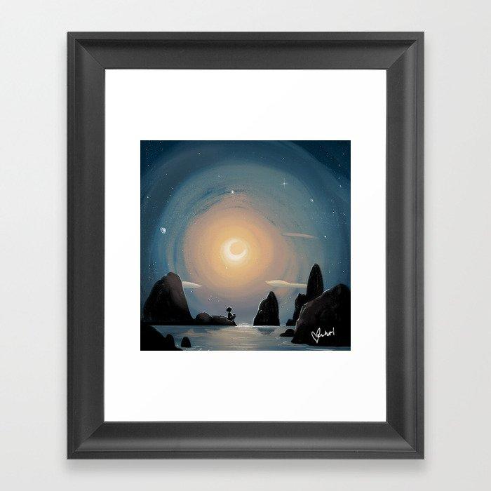 Crescent Moon Gerahmter Kunstdruck