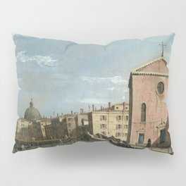 Venice, The Grand Canal facing Santa Croce by Follower of Canaletto Pillow Sham