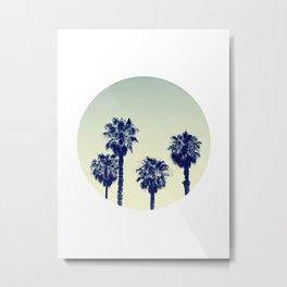 retro palm trees Metal Print