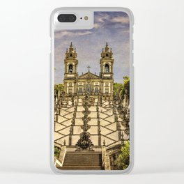 Portugal, Minho district, Braga, the sanctuary of Bom Jesus and the baroque stairway Clear iPhone Case