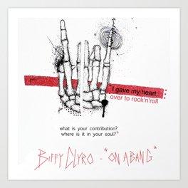 """Biffy Clyro - """"on a bang"""" Art Print"""