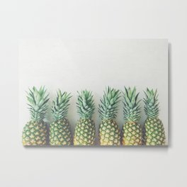 It's All About the Pineapple Metal Print