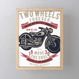 Vintage Motorcycle Community Framed Mini Art Print