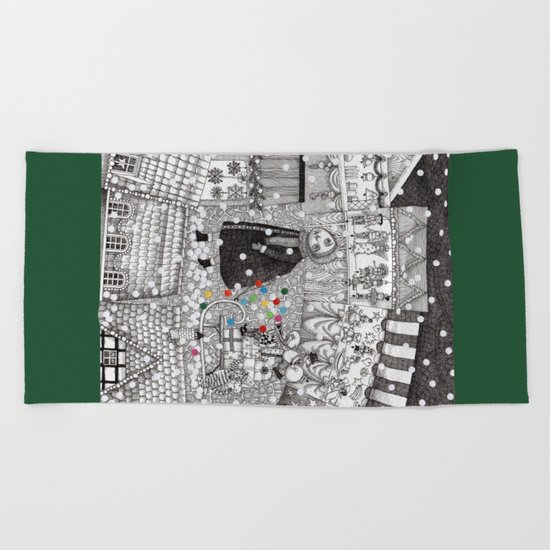 After Hours at the Christmas Market Beach Towel
