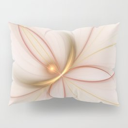 Nobly In Gold And Copper, Fractal Art Pillow Sham